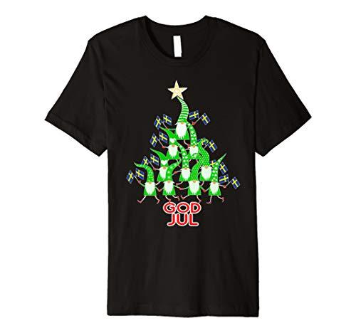 God Jul Weihnachtsbaum Tomte Nisse Gnome Schwedische Flagge