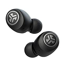 professional JLab Audio Go AirTrue Wireless Bluetooth Headphones + Charging Case | Black | Dual Connection | IP44…