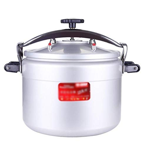 Commercial Aluminum Pressure Cooker Rice Cooker, Large Capacity Explosion-Proof Pressure Cooker Slow Cooker, Thickened Double Bottom Apply for Home Hotel Restaurant Kitchen 5L-50L