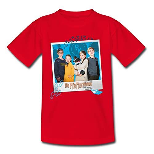 Pfefferkörner Johannes, Mia, Alice und Benny Teenager T-Shirt, 134-146, Rot