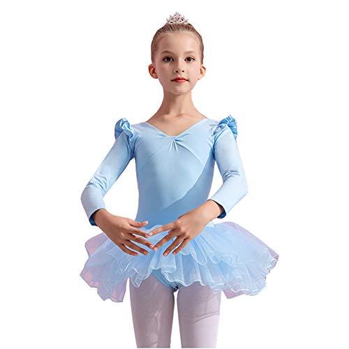 Ksith danskleding voor kinderen, meisjes, lange mouwen, balletrok, professionele trainingskleding, herfst- en winterkleding, latijn