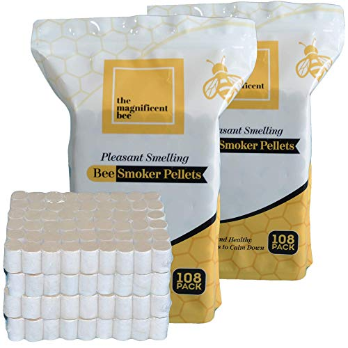 The Magnificent Bee Smoker Pellets, 216 Pack, Natural Hive Beekeeping and Beekeeper Accessories for Honey Bees, Clean and Natural Burning, Pleasant Smell for Outdoor Use | USA Brand… (216 Pack)