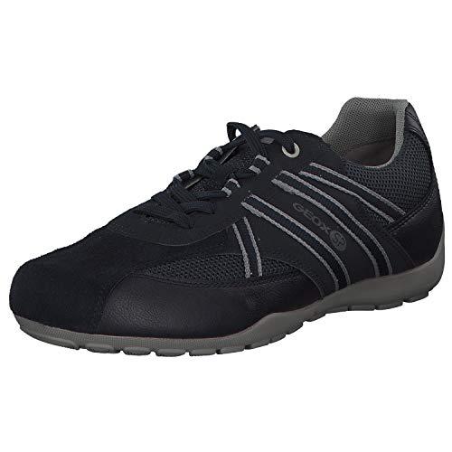 Geox RAVEX U923FB Herren Low-Top Sneaker,Männer Halbschuh,Sportschuh,Schnürschuh,atmungsaktiv,DUNKELBLAU,44