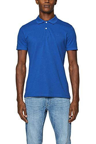 ESPRIT Herren 999EE2K803 Poloshirt, Blau (Bright Blue 410), Large (Herstellergröße: L)