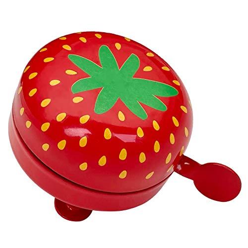 YihuiKo Kinder-Fahrradklingel, Fahrradklingel mit lautem Sound, Kleinkinder-Fahrradklingel, Fahrradhupe für Mädchen und Jungen, Klingelton Alarm für Kinder (rote Erdbeere)...