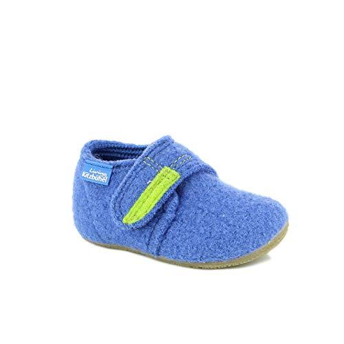 Living Kitzbuhel Baby Jungen Babyklettschuh Krabbel- & Hausschuhe, Blau (Victoria Blue 558), 24 EU