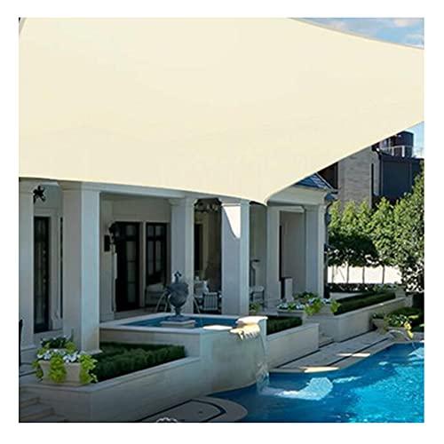 Vela De Sombra Rectangular 1x1m,2x3m Toldo Vela De Sombra, Vela Solar, Protección Rayos UV Lonas Impermeables Exterior Sombrilla Jardin Exterior Para Patio, Exteriores, Jardín C(Size:3*5m (10'*16'))