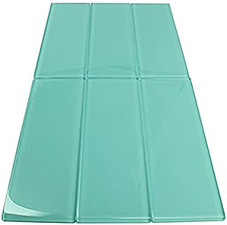 Soft Mint Glossy - 3x9 Soft Mint Glass Tile - Bathroom Tile & Kitchen Backsplash Tile (Price Per 3 Square Feet, 16 Pieces)