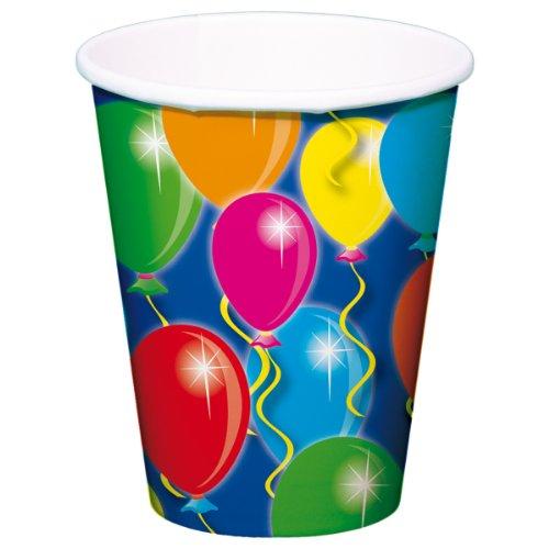 8 Gobelets * * GOBELET en carton pour fête et Anniversaire//enfants Fêtes et Anniversaires d'Enfants Ballons Gobelets Ballon