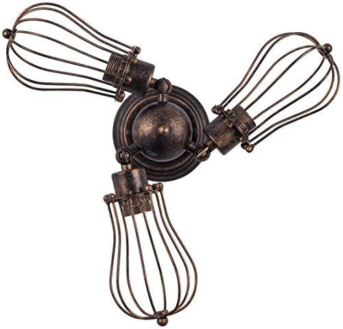 Wandlamp, vintage, brons, compatibel met dimmer draaibaar, lampenkap, mooie decoratie, design van metaal (eisen), 50 x 14,5 cm, wandlampen