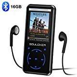 MP3 Player, 16GB Bluetooth MP3 Player mit Kopfhörer, MP3 Player Kinder mit Lautsprecher