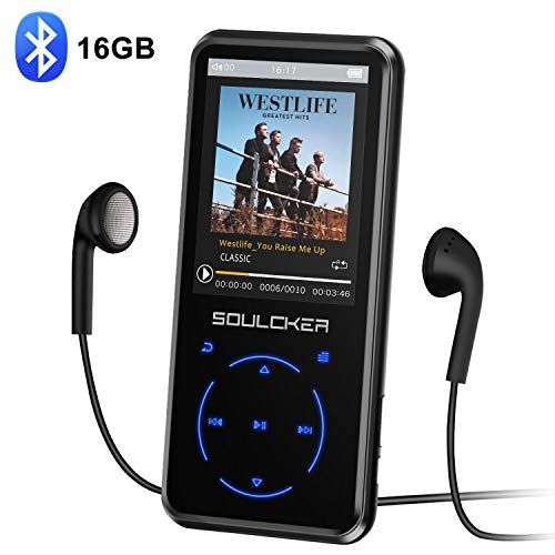 MP3 Player, 16GB MP3 Player with Bluetooth 4.0, Portable HiFi Lossless Sound MP3 Music Player with FM Radio Voice Recorder E-Book 2.4