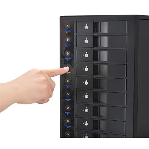 『センチュリー 裸族のスカイタワー 10Bay IS 独立電源スイッチ搭載 HDD 10台搭載可能ケース CRST1035U3IS6G』の4枚目の画像
