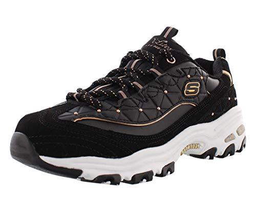 Skechers 13087-bkrg, Zapatillas para Mujer, Black Rose Gold, 37 EU