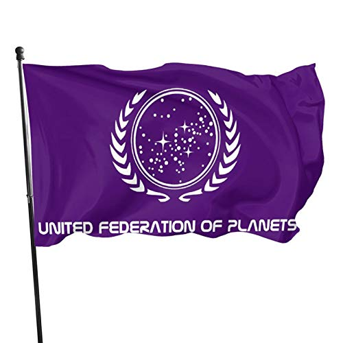 484 Star Trak United Federation of Planets Flag Garden and Home Decoration Banner Double-Sided, 3 X 5ft