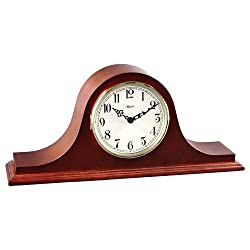 Hermle Black Forest Clocks 4Tambour Clock in Cherry with Ivory Colored Dial