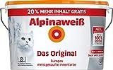 alpina XXL Alpinaweiß 12 Liter Farbe Wandfarbe Das Original 20% GRATIS