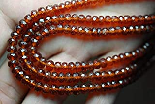 Jewel Beads Natural Beautiful jewellery 4 Inches Super Large Orange Hessonite Garnet Faceted Rondelles 6-7mmCode:- JBB-39720