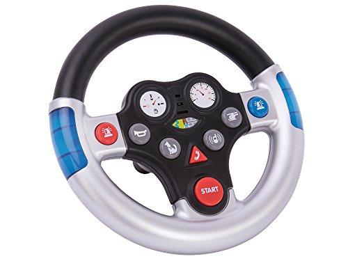 BIG 800056493 Rescue Sound Wheel Lenkrad mit verschiedenen Rettungs Sounds, für Bobby Cars ab dem Baujahr 2010, sowie für BIG Traktoren, Spielzeuglenkrad für Kinder ab 1 Jahr