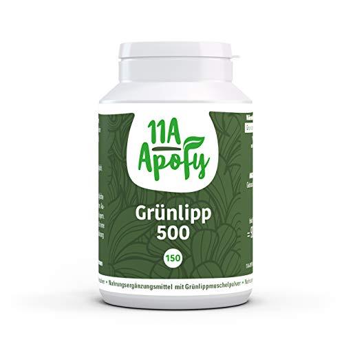 11A-Apofy | Grünlipp 500 | Neuseeländische Grünlippmuschel | 1000 mg pro Tagesdosis | 150 Kapseln