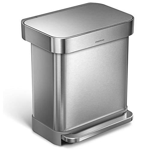 simplehuman 30 Liter Rectangular Hands-Free Kitchen Step Trash...