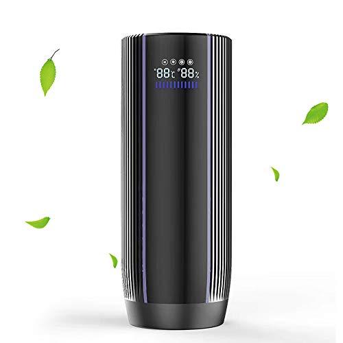 EPILUM Auto Luftreiniger für Auto Ionisator mit HEPA-Filter, 4 Geschwindigkeiten mit LCD Display, Negative Ionengenerator Ionisator für Auto kleine Räume entfernen Rauchstauballergien Keime PM2.5
