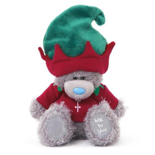 Me to You 6-inch Tatty Teddy Bear Dressed as a Elf Sits (Grey)