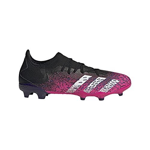 adidas Predator Freak .3 L FG, Zapatillas de ftbol Hombre, Core Black FTWR White Shock Pink, 46 2/3 EU