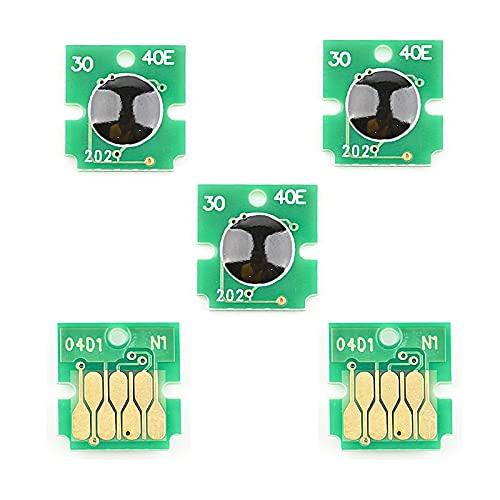 satukeji T04D100 T04D1 C13T04D100 Chip de Tanque de Mantenimiento para Epson M2140 L6171 L6170 XP 5100 5105 WF 2800 2860 2865 ET 2700 2750 3700 (Color : 5pc)