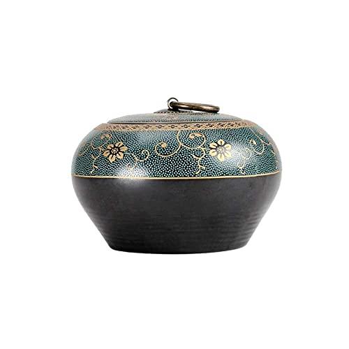 YANJ Urna de cremación para Cenizas de Adultos Patrón de Flores Urna de cerámica Urnas de Recuerdo para Cementerio Entierro o nicho