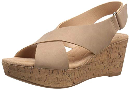 CL by Chinese Laundry Women's Dream Girl Wedge Pump Sandal, Nude Nubuck, 8 M US