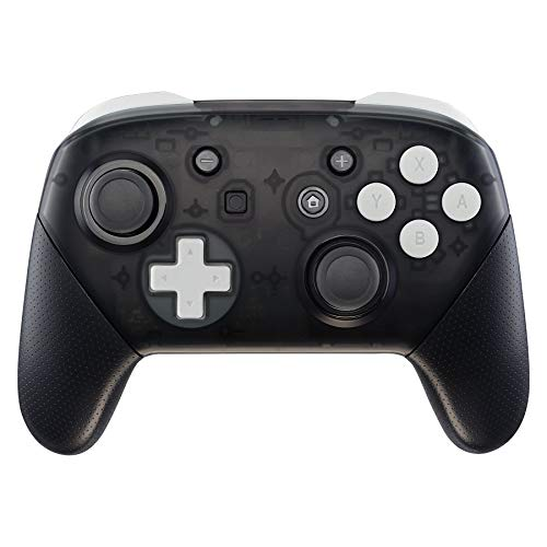 eXtremeRate White Repair ABXY D-pad ZR ZL L R Keys for Nintendo Switch Pro Controller, Glossy DIY Replacement Full Set Buttons with Tools for Nintendo Switch Pro - Controller NOT Included