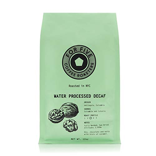 For Five Coffee Roasters - Roasted In NYC - Water Processed Decaf Medium Roast (Origin: Antioquia, Columbia), Whole Bean 12 oz