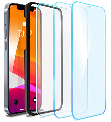 "vau Glas Pro kompatibel mit iPhone 12 Mini (5.4"") – Panzer-Folie Glas-Displayschutz Folie 3D Full Screen 3 Stück + Schablone"