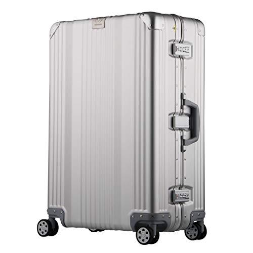 [アウトレット] アルミスーツケース キャリーケース キャリーバッグ アルミ ダブルキャスター 機内持込サイズ 【B-1510-48】 シルバー