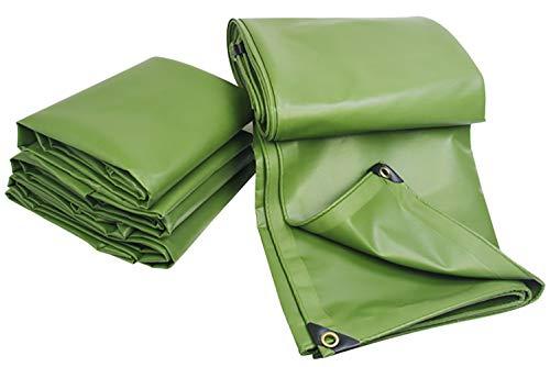 Tarpaulin-CZY Regendichte doek, waterdicht, zonwering, verdikte zeildoek, overkapping, drie anti-kunststof gecoat, doek, buiten, dekzeil, vloerbedekking 2mx3m groen