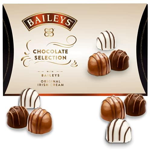 Bailey's Chocolate Selection   zartschmelzende Pralinen aus Milch-, Zartbitter- und weißer Schokolade   Pralinen Geschenk   gefüllt mit Bailey's Likör   1 x 94g