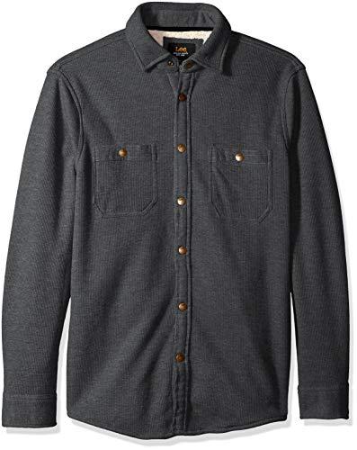 Lee Herren Shirt Jacket Hemd, Arturo HTH/Anthrazit, X-Groß