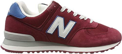 New Balance Herren 574v2 Sneaker, Rot (NB Scarlet NB Scarlet), 44.5 EU