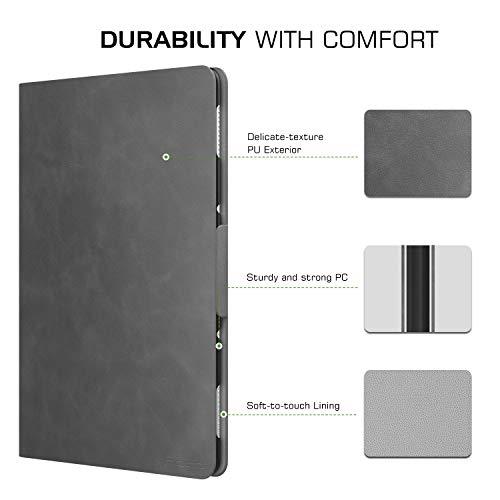MoKo Huawei MediaPad M5 Lite 10 Hülle, Stoßfest Ledertasche Schutzhülle mit Auto Sleep/Wake up Funktion, Standfunktion für Huawei MediaPad M5 Lite 10.1