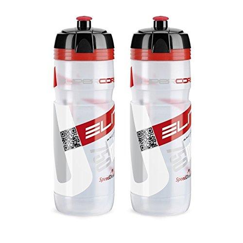 ELITE 0091754 Corsa Trinkflasche Super, 750 ml, rot/schwarz (2 Stück)