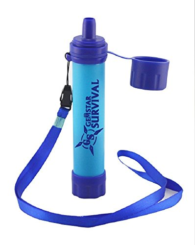 Personal Water Filter Straw for Fast Access to Potable Water from Any Freshwater Sources 50% More Filtration Capacity than LifeStraw Compact Pocket-size and Lightweight with No Chemical or Battery Use