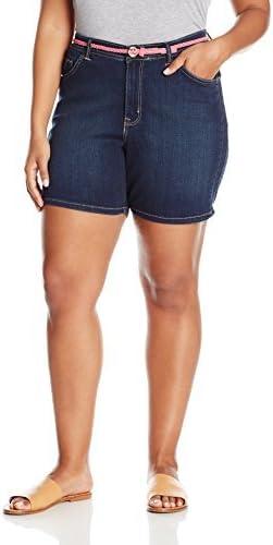 Lee Women's Plus Size Modern Series Midrise Fit Belted Twila Short