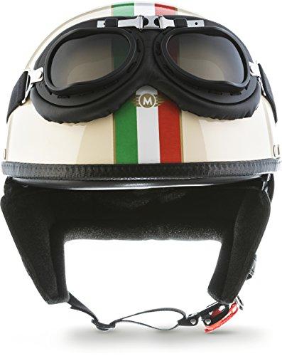 "MOTOHelmets® D22-Set ""Italy"" · Brain-Cap · Casco Moto Demi-Jet Motocicleta Scooter Urbano..."