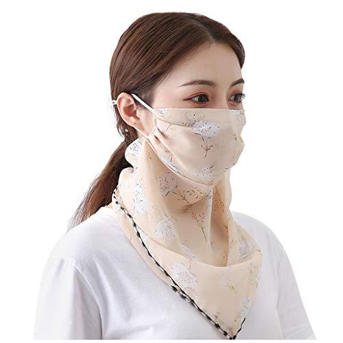 MOTOCO Kopftuch Bandana Mode Halstuch Stirnband Damen Schlauchtuch Neck Gaiter Gesichtsschutz Kopfbedeckung Halsmanschette Frauen Multifunktionstuch(L.I)