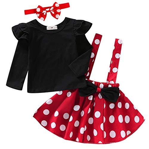 Costume di carnevale da bambina, motivo: Minnie, a pois, stile medievale, a maniche corte, per 1-4 anni...