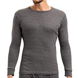 MT men's ski and thermal undershirt - warm underwear, long sleeves with inner fleece - anthracite L