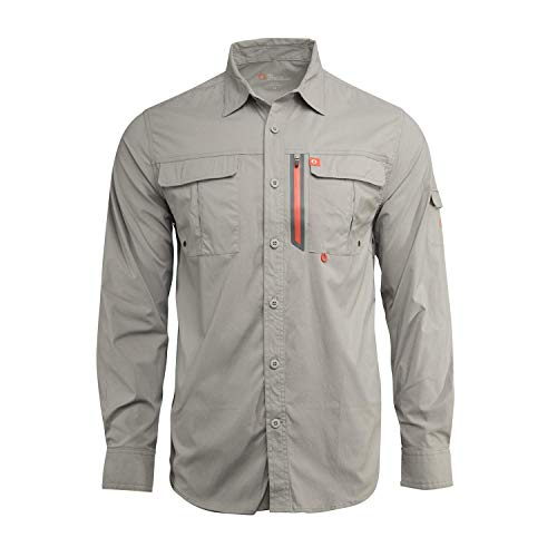American Outdoorsman The Long-Sleeve Blackfoot River Quick Dry Breathable UPF 30 Fishing Shirts