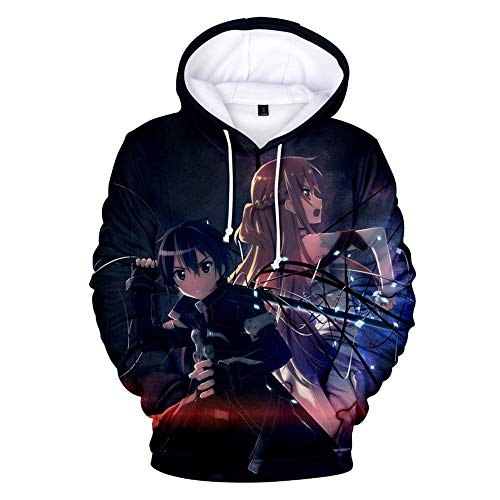 Siawasey Anime Sword Art Online Hoodie Kirito Jacke Hoody Pullover Sweatshirt Fleece Kostüm - mehrfarbig - Large