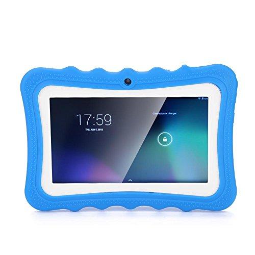 WiFi Learning Kids Tablet, Tableta de protección de Ojos de 7 Pulgadas con Pantalla táctil para niños PC con 2600mAh para niños / 512M RAM / 8GB ROM/educación temprana(UE(Azul))